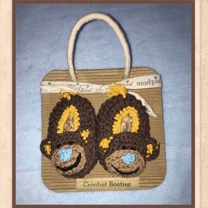 Mud Pie Other - 🐒Mud pie - Crochet Booties 🐒
