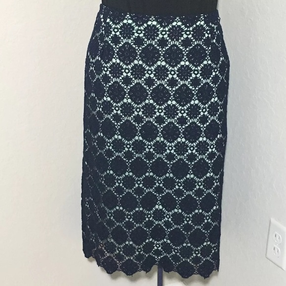 a55dcf9d7d76 Vince Camuto Skirts | Nwt Oasis Blue Lace Pencil Skirt 20w | Poshmark