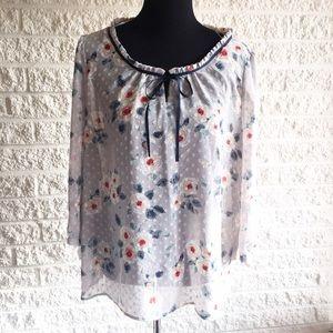 LC Lauren Conrad Tops - Floral peasant blouse