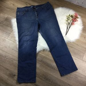 Lane Bryant Denim - Straight genius fit blue denim jeans