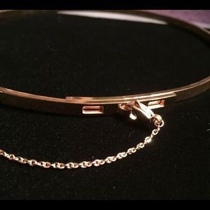 Gold Thin Safety Chain Choker Necklace