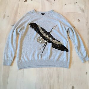 H&M sequin crane Sweater