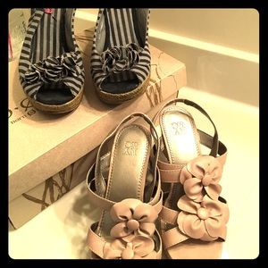 Shoes - Bundle!  Ladies wedge sandals.