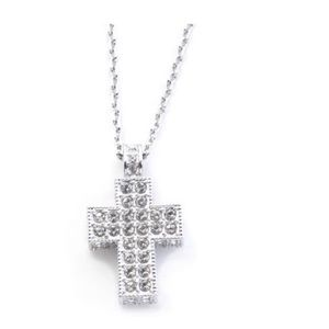 Swarovski Jewelry - Swarovski Crystal Pavé Cross Pendant Necklace