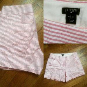 Seersucker JCREW shorts