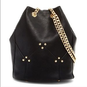 ONLY 2 left Black Maisie Bucket Crossbody Bag