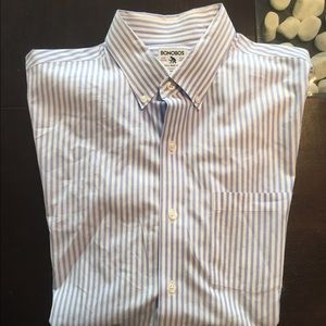 Bonobos Other - Men's Large Casual Button Down Blue & White Stripe