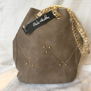 ONLY 2 left Taupe Maisie Bucket Crossbody Bag