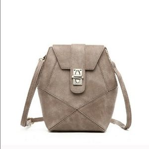 Pink Haley Handbags - 🆕Taupe Frida Front Lock Patch
