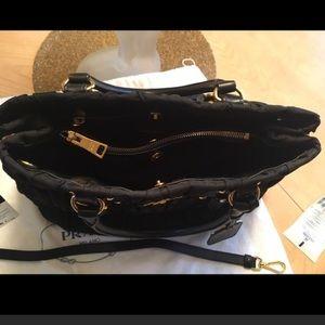 7a3f49811e Prada Bags - PRADA TESSUTO GAUFRE BLACK TOTE