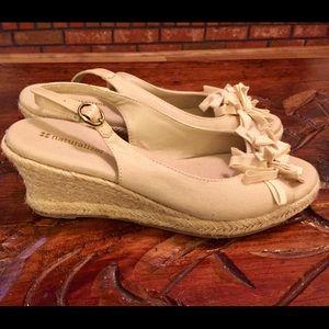 Naturalizer Shoes - Naturalizer Tan Wedge Heel Open-Toe Espadrilles