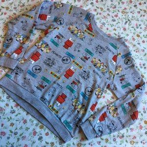 Mighty Fine Tops - Snoopy Peanuts Mighty Fine sweatshirt Small Cute
