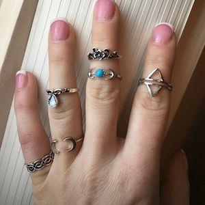 6 Piece Ring Set