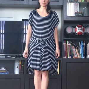 Greylin Dresses & Skirts - Greylin Striped T-shirt Dress with a Front Knot
