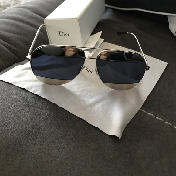 1c9d299e850d Christian Dior Accessories - Dior split sunglasses silver and blue AMAZING  DEAL