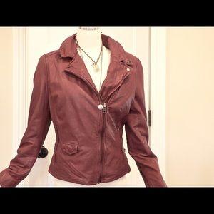 Muubaa Jackets & Blazers - Muubaa Leather Jacket in Oxblood  Red US 10