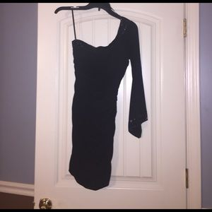 Taboo Dresses & Skirts - Black fitted one sleeve Taboo size small dress