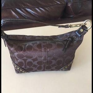 Coach Handbags - Coach bag with metallic C's and cute details