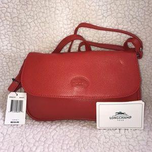 NWT Longchamp Leather Crossbody bag.