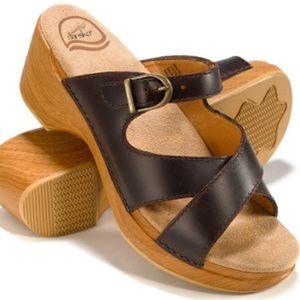 Dansko Shoes - Dansko wooden clog sandals - size 8.5