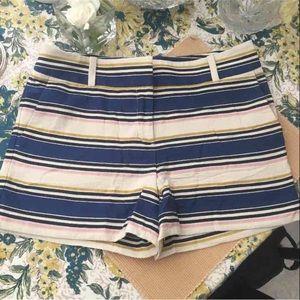 LOFT Pants - Loft Riviera striped shorts sz6