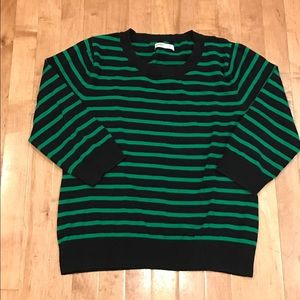 Old Navy black and green striped sweater