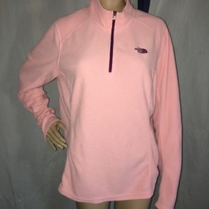 The North Face Tops - The North Face pink fleece top