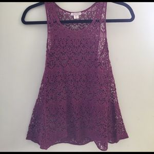 exhilaration Tops - Adorable lace tank