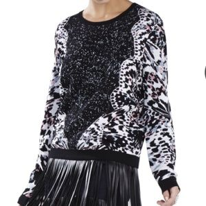 BCBG Jacquard Sweater