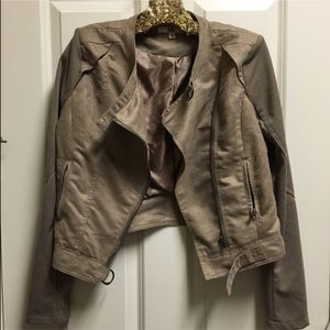 Ya Los Angeles Jackets & Blazers - Suede Moto Jacket
