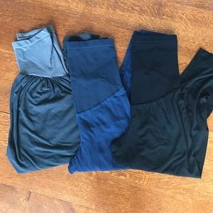 A Pea in the Pod Pants - Capri maternity legging bundle