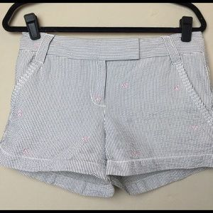 J.Crew Factory Pants - J.Crew striped/anchor shorts