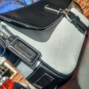 Authentic Coach baguette leather top