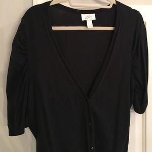 Cute LOFT Black Cardigan XL