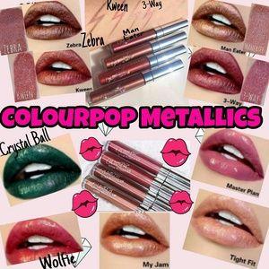 Colourpop Ultra Metallic Lippies