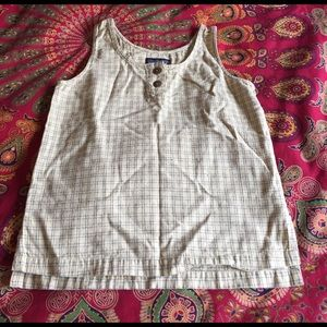 Patagonia Tops - Patagonia Linen Plaid Crop Tank Top