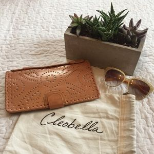 Cleobella Handbags - Cleobella Mexicana Hand Painted/Tooled Clutch