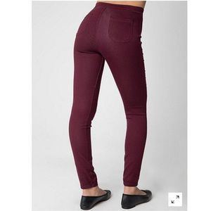 American Apparel Pants - FINAL PRICE AA Purple Burgundy Easy Jeans