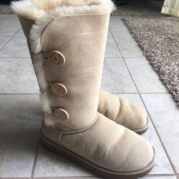 3ae35e7220b Uggs bailey button tall boots sand color