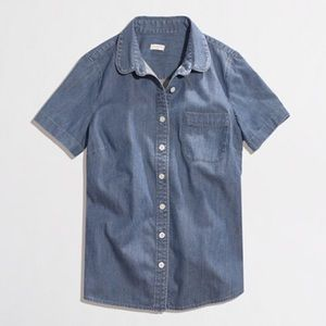 J. Crew Factory Tops - FINAL PRICE JCrew Factory Short Sleeve Chambray