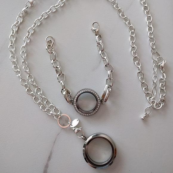 Origami Owl Jewelry Over The Heart Necklace Bracelet Poshmark