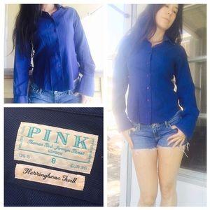 Thomas Pink Tops - Thomas Pink herringbone button down collar shirt