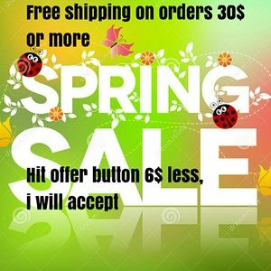 Free shipping on all orders 30$ or more
