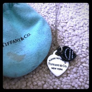 Tiffany & Co. Jewelry - Black and white Tiffany & Co. necklace with pouch!