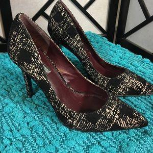 BCBGeneration Shoes - BCBGeneration Black & Tan Suede Heels New