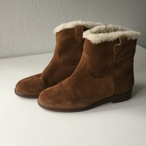 Madewell Shoes - Madewell suede and shearling lining boots