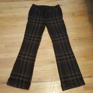 Dolce and Gabbana vintage plaid bell bottoms