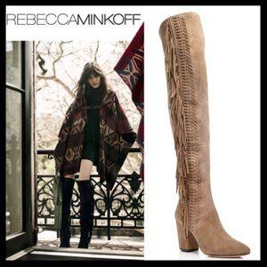 rebecca minkoff // inez over the knee fringe boots