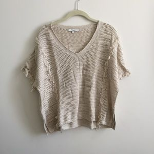 Madewell Fringe Knit Sweater S