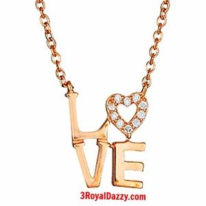 Jewelry - Sterling Silver Heart Letters Pendant Necklace